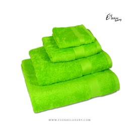 Lemon Green Egyptian Cotton Towel Set
